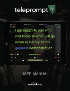Teleprompt+ 3 iOS Manual